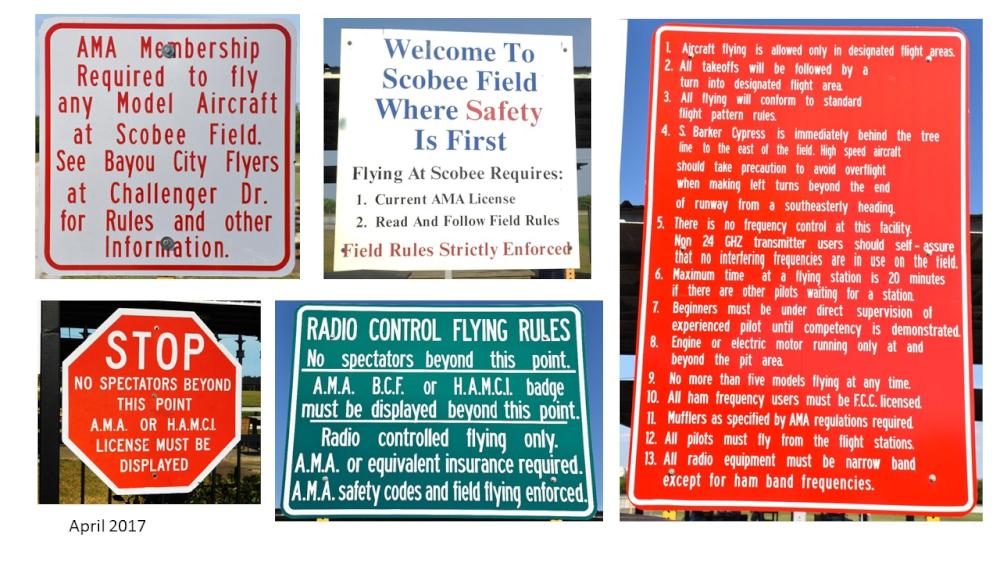 Safety Signage | Bayou City Flyers